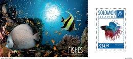 SOLOMON ISLANDS 2014 SHEET FISHES POISSONS PECES PEIXES MARINE LIFE Slm14713b - Solomoneilanden (1978-...)