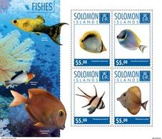 SOLOMON ISLANDS 2014 SHEET FISHES POISSONS PECES PEIXES MARINE LIFE Slm14713a - Solomoneilanden (1978-...)