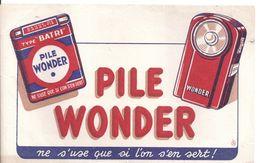 Buvard PILE WONDER -ne S'use Que Si L'on S'en Sert! - Piles