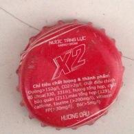 Vietnam Viet Nam X2 Strawberry Used Beverage Bottle Crown Cap / Kronkorken / Capsule / Chapa / Tappi - Soda