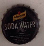 Vietnam Viet Nam SCHWEPPSE SODA WATER Used Bottle Crown Cap / Kronkorken / Capsule / Chapa / Tappi - Soda