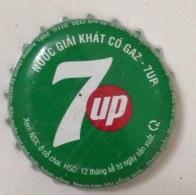 Vietnam Viet Nam Pepsi 7-Up Used Bottle Crown Cap / Kronkorken / Capsule / Chapa / Tappi - Soda