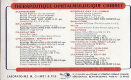 Buvard THERAPEUTIQUE OPHTALMOLOGIQUE CHIBRET - Produits Pharmaceutiques