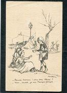 CPA - Illustration Poulbot - Pauvre Homme! Vous êtes Blessé? - Non, Mort, Je Suis François Joseph - Guerre 1914-18