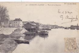 Chalon S/Saône - Port De La Sucrerie (péniche Au Déchargement) Circulé 1903 - Chalon Sur Saone
