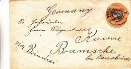 Victoria - Inde - Lettre De ? - Entier Postal - Exp Vers Bramsche Via Brindisi - Inde (...-1947)