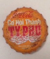 Vietnam Viet Nam Coca Cola Promotion For Billionaire Used Bottle Crown Cap / Kronkorken / Capsule / Chapa / Tappi - Casquettes