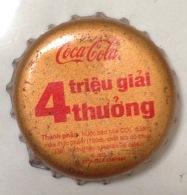 Vietnam Viet Nam Coca Cola Promotion With 4 Millions Prizes /used Bottle Crown Cap / Kronkorken / Capsule / Chapa /tappi - Caps