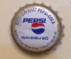 Vietnam Viet Nam PEPSI MUSIC / GIAI DIEU SO Used Crown Cap / Kronkorken / Capsule / Chapa / Tappi - Soda