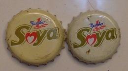 2 Different Vietnam Viet Nam Number 1 Soya Bean Used Crown Cap / Kronkorken / Capsule / Chapa / Tappi - Soda