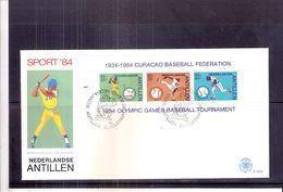 Sports - Base-Ball - FDC Nederlandse Antillen - Curaçao - Bloc 1984(to See) - Base-Ball