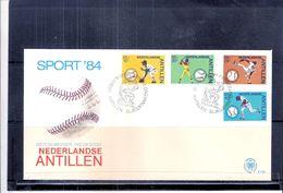 Sports - Base-Ball - FDC Nederlandse Antillen - Curaçao - Complete Set 1984 (to See) - Base-Ball
