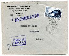 PARIS 118    Env. Recommandée Provisoire   Du 19/04/1948 - Marcophilie (Lettres)