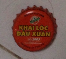 Vietnam Viet Nam PEPSI MIRINDA NEW YEAR 2005 / Used Crown Cap / Kronkorken / Capsule / Chapa  / Tappi - Soda