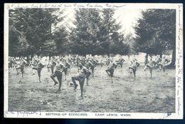Cpa Etats Unis Usa Washington Camp Lewis Setting Up Exercises  Sep17-14 - Etats-Unis