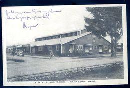 Cpa Etats Unis Usa Washington Camp Lewis Y.M.C.A. Auditorium   Sep17-14 - Etats-Unis