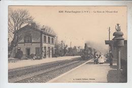 RT30.191 ( I ET V) PLEINE-FOUGERES.LA GARE DE L'OUEST-ETAT AVEC TRAIN. N° 4088 A. LAMIRE EDIT RENNES - Sonstige Gemeinden
