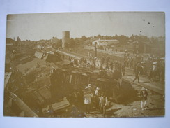 17 - CPA - SAUJON - Belle Carte Photo De L'accident De Chemin De Fer - Saujon