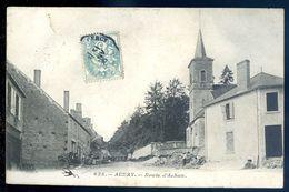 Cpa  Du 58  Aunay Route D' Achun   Sep17-14 - France