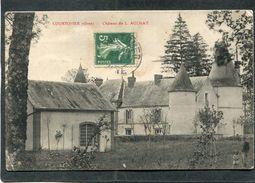 CPA - COURTOMER - Château De L. AULNAY, Animé - Courtomer