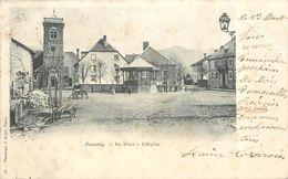 BUSSANG - La Place, L'église, Carte  De 1899. - Bussang