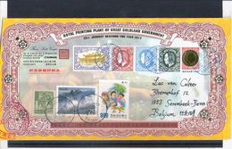 Registered Cover From Taiwan To Belgium - With Coldland Stamps(to See) - Taiwan (Formose)