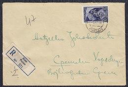 Yugoslavia 1948 Communist Party Congress, Recommended Letter Risan - Sremski Karlovci - 1945-1992 Socialist Federal Republic Of Yugoslavia