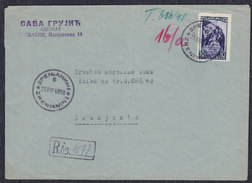 Yugoslavia 1948 Communist Party Congress, Recommended Letter Zrenjanin, Loco - 1945-1992 Socialist Federal Republic Of Yugoslavia