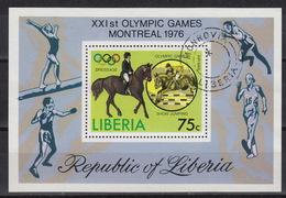 LIBERIA : Block 79 Used – Oblitéré – Olympiade Montreal 1976 - Liberia
