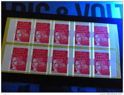 CARNET MARIANNE DE LUQUET LA POSTE VARIETE PHOSPHO A CHEVAL MAURY 525d - Carnets