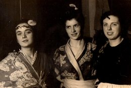 Photo Originale Déguisement - Ambiance Chinoises & Chinoiseries Vers 1950/60 - Anonymous Persons