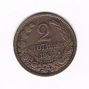 )  BULGARIJE  2 STOTINKI  1901 - Bulgarie