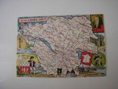 44 * LOIRE-INFERIEURE *  CARTE GEOGRAPHIQUE - ILLUSTRATION DESSIN (BLONDEL LA ROUGERIE) - Carte Geografiche