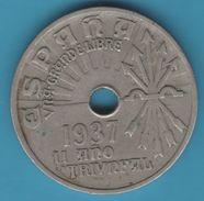 ESPANA 25 CENTIMOS 1937  II AÑO TRIVNFAL - 25 Centesimi