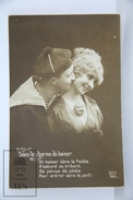 Old 1920´s Real Photo Postcard - Romantic Topic Postcard - Couple - French Sailor - Postales