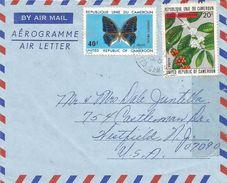 Cameroun Cameroon 1976 Garoua Boulai Coffee Charaxes Ameliae Butterfly Cover - Kameroen (1960-...)