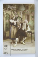 Old 1920´s Real Photo Postcard - Mignon Chante Sa Liberté! - Postales