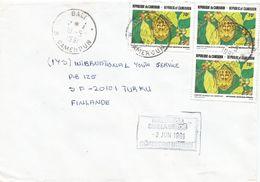 Cameroun Cameroon 1991 Bali Insect Sweden Redirecting Handstamp Cover - Zweden
