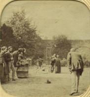 Stéréo Translucide Circa 1860. Jeu De Quilles. - Stereoscoop