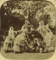 Stéréo Translucide Circa 1860. Jeu De Colin-maillard. - Stereoscoop