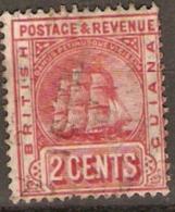 British Guiana 1907 SG 253 2c Fine Used - Guyane Britannique (...-1966)
