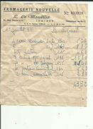 Facture  De ( Fromagerie Nouvelle ( L  LE  MOUELLIC A LORIENT  56  Adressé A Mme EUZENAT EN 1963 - Food