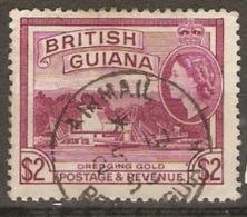 British Guiana 1954 SG 344a $2 Reddish Purple Fine Used - British Guiana (...-1966)