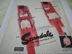 ANCIENNE PUBLICITE SOUS VETEMENT LA SCANDALE 1961 - Habits & Linge D'époque