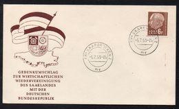 SAARLAND / 5-7-1959 LETZT TAG DER GÜLTIGKEIT DER FRZ WÄHRUNG (ref 5731) - 1957-59 Federation
