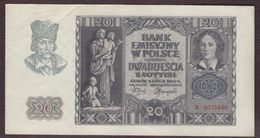 POLOGNE - 20 ZLOTYCH  - 01/03/1940 - Pologne