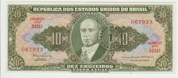 Brasil 10 Cruzeros 1961-62 Pick 183b UNC - Brésil