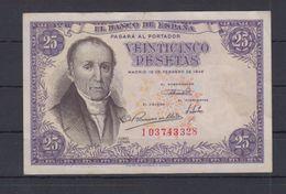 EDIFIL 450a.  25 PTAS 19 DE FEBRERO DE 1946. - [ 3] 1936-1975 : Regency Of Franco