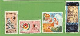 MiNr.1053-1056 Xx Ägypten UAR - Egipto