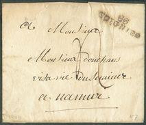LAC De 86/SOIGNIES (griffe Noire) En 1809 Vers Namur; Port '4' (encre) - 12204 - 1794-1814 (Französische Besatzung)